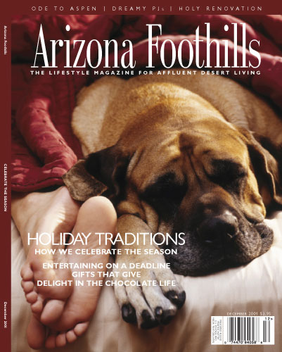 Cover of Arizona Foothills December issue