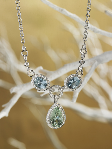 Blue Diamond Pendent Necklace - Molina Fine Jewelers