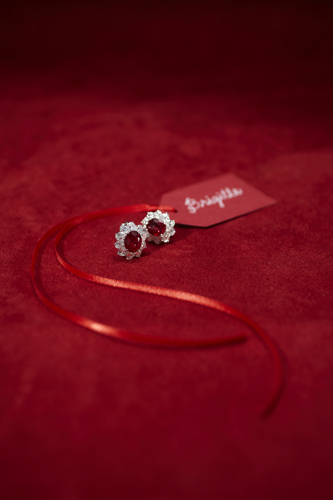 Ruby and Diamond Earrings - Molina Fine Jewelers